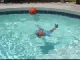 Father Throws His Little Daughter In The Swiming Pool