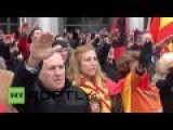 Far-right With Fascist Salute Commemorate Spanish Dictator's Death 40 Years Ago
