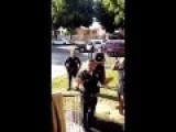 Footage Shows Local Police Men Arresting Local Man For Not Wearing A Helmet While Biking