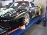 Ferrari 360 Dyno Exhaust Flames Pulling 2nd Thru 6th