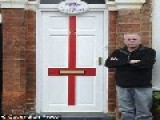 FORMER SOLDIER TOLD ENGLISH FLAG PAINTED ON DOOR IS 'OFFENSIVE'