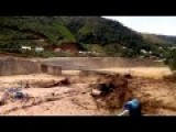 Fast And Powerful Flash Flood In Lai Chau, Vietnam