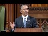 FULL SPEECH : US President Barack Obama Speech - Canada Wishes 'Four More Years' - Canada Parliament