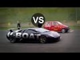 Fiat 500 Turbo Vs Lamborghini Murcielago Drag Race