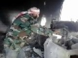 FSA Crew Of An Anti-Aircraft Machine Gun Hit And Killed By Syrian Arab Army Shell