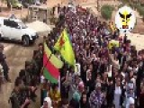Funeral Of Martyred Kurdish And FSA Fighters Fallen Against Daesh ISIS