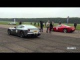 Ferrari F12 Berlinetta Vs Ferrari 458 Italia, McLaren MP4-12C Drag Race