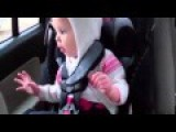 Funny Little Girl Loves Rap Music