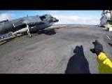 Footages From The Flight Deck Of The Wasp-class Amphibious Assault Ship USS Boxer LHD-4