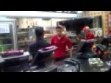 Fast Food Employee Freaks Out