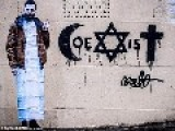 "French Graffiti Artist Trying To Spread Religious Harmony Gets Beaten Up Over ""Coexist"" Painting"