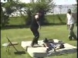 Fat Kid Atempts Moonsault And Scorpions Himself While Backyard Wrestling