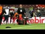 Fan Hooligan Attacks Linesman During Footballgame