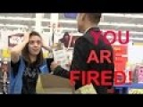 FIRING WALMART EMPLOYEES ON THE SPOT FUNNY REACTION