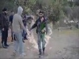 FSA Reloads His Gun With His Boot