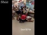 Four Men Try To Separate Two Women Fighting In Mall
