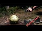 FULL AUTO Glock 43 Shoots Watermelon In SLOW MOTION