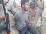 FSA AL NUSRA MEMBER IN THE HANDS OF HEZBOLLAH FIGHTERS IN QALAMOUN MOUNTAINS LEBANON