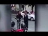 Fight, Policeman Vs Biker