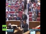 Fist Fight In Ukrainian Parliament