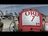 F A-18 Flight Line Ops & Ordnance Loading + Missile Launch