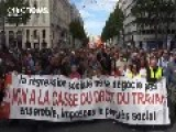 France PM Valls Condemns Violence During Labour Law Protests