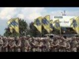 Fascist US Backed Pro Nazi Azov Battalion In Formation Occupying Mariupol- Mid June 2015