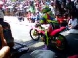 Female Drag Racer Ride The Bike Pink