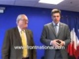 Front National Jean Marie Le Pen Meets Svoboda Leader Tyahnibok In Paris 2009