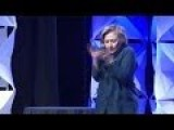 FULL Shoe Thrown At Hillary Clinton During Speech