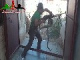 FSA Terrorist With Kermit Coloured T-shirt And Fedora Dancing