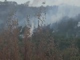 Firefighting Aircraft Used To Battle Blaze In Girona