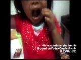 Father Records His Daughter Eating Roaches