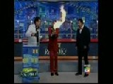 Fire Accident On Live TV