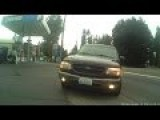 Ford Explorer Jumps The Curb To Intimidate A Cyclist