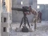 FSA Terrorists Using TOW Missile To Destroy Cannon