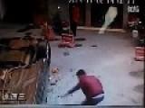 Flying Car Crashes Through Wall