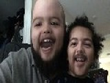 Father And Son Have Fun Swapping Faces