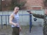 Fast Russian Disarms Soldier