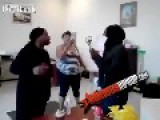 FAT BLACK GIRLS Fight At The **GHETTO TAX OFFICE**