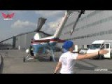 Forklift Pulls Old Soviet Style Helicopter
