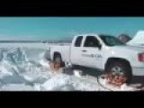 Ford F-350 Mounted Crawler For Moving On Snow Extremely Creative
