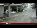 Flash Floods Hit Athens Following Torrential Rain