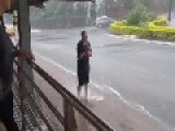 Flooded Streets Of Sydney Suburb