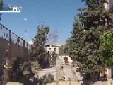 Fight For A School In Jobar. Tanker Vs Militant Duel