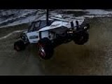 Freakin' Cool RC Car On Ice Lake Gets Stuck..so Send In The RC Tow Truck!
