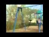 Fat Woman Falls Off Swing