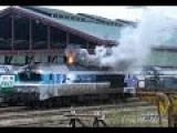 French Diesel Train Locomotive Respecting The Environment Cold Start