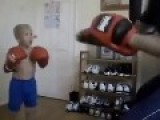 Father Teaches Kid Boxing
