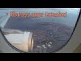 Flying Over Istanbul On Valentine's Day Airbus A319 Turkish Airlines